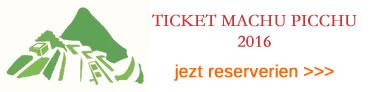 2016 Tickets Machu Picchu
